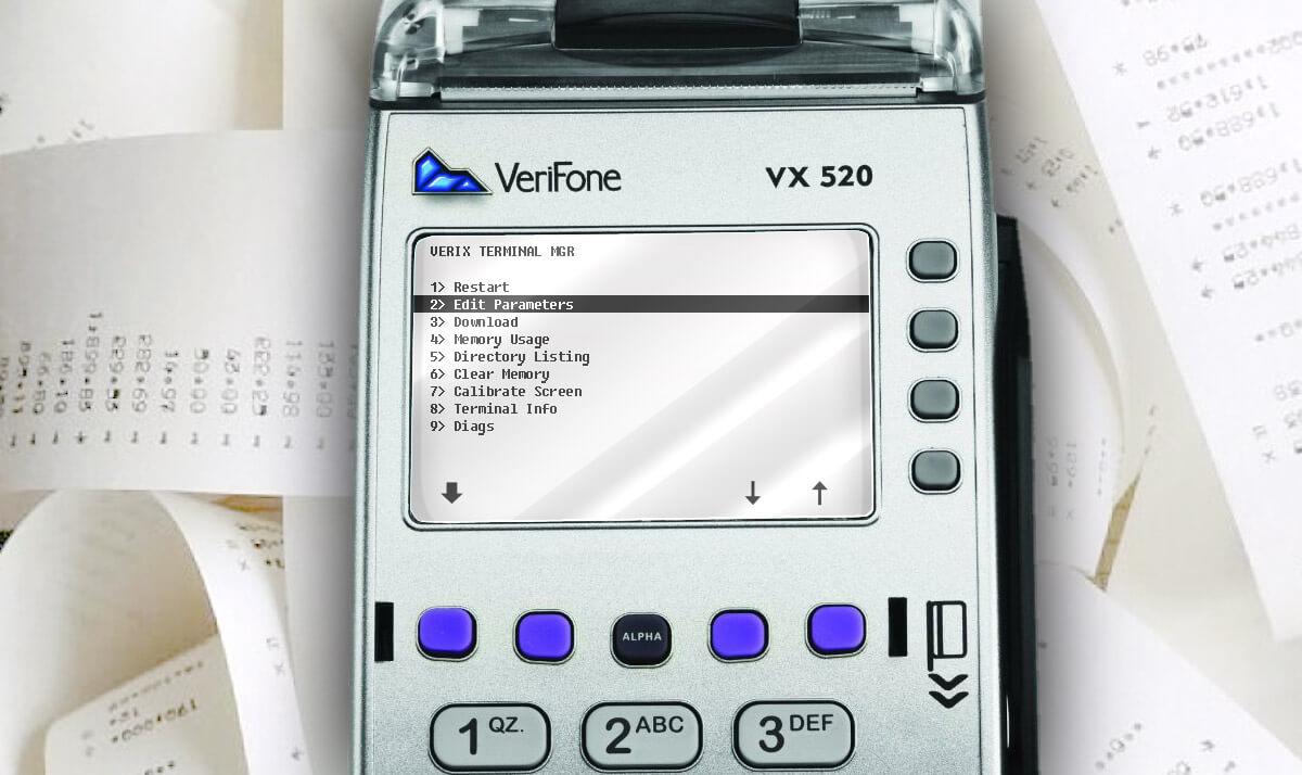 Настройка яркости печати принтера VeriFone